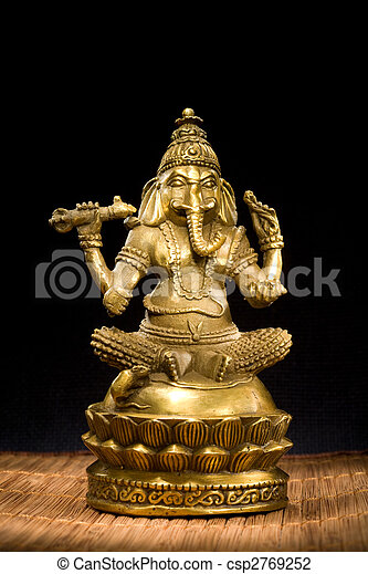 Figurine Idol of Lord Ganesh Blessing Everyone - csp2769252