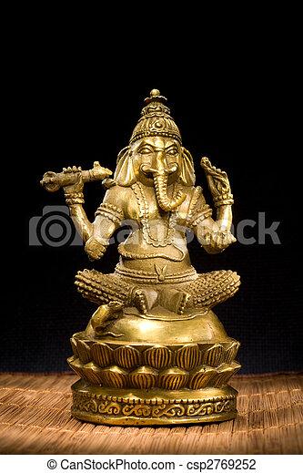 Figurine Idol of Lord Ganesh Blessing Everyone - csp2769252