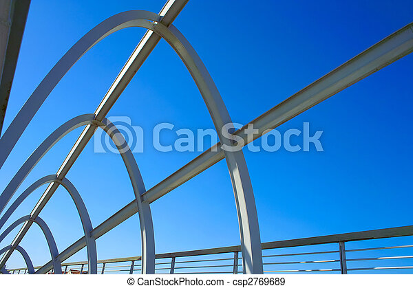 Modern bridge structure - csp2769689