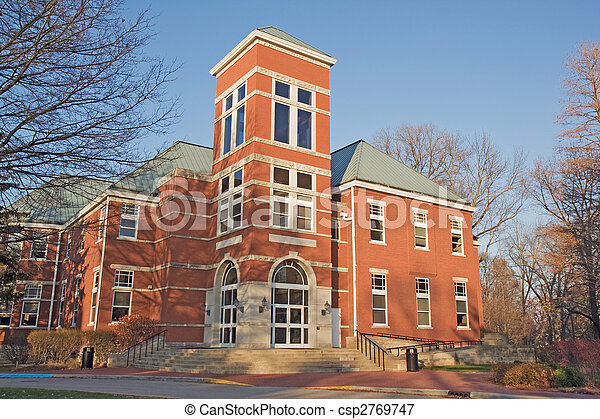 Building on a college campus in Indiana - csp2769747