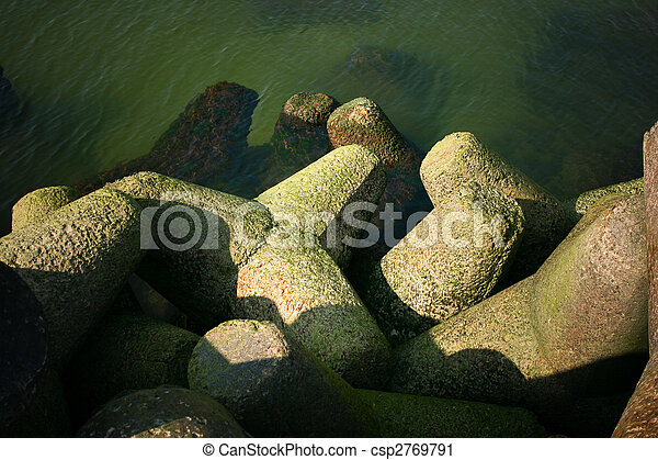 Sea coast breakwater - csp2769791