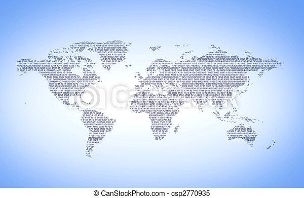 Digital world numbers - csp2770935
