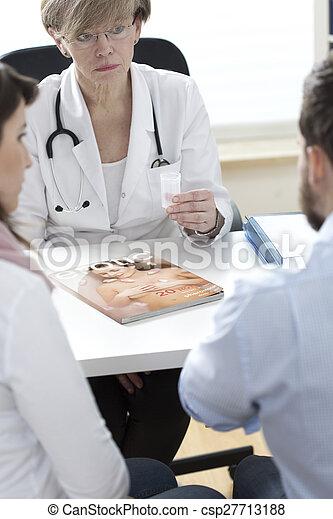 Contenedor de esperma familiar