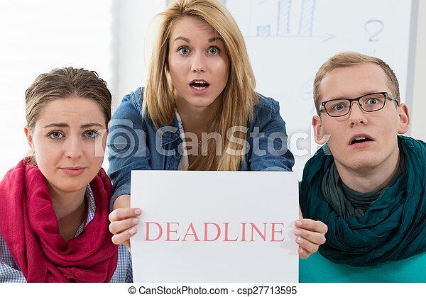Stress before deadline
