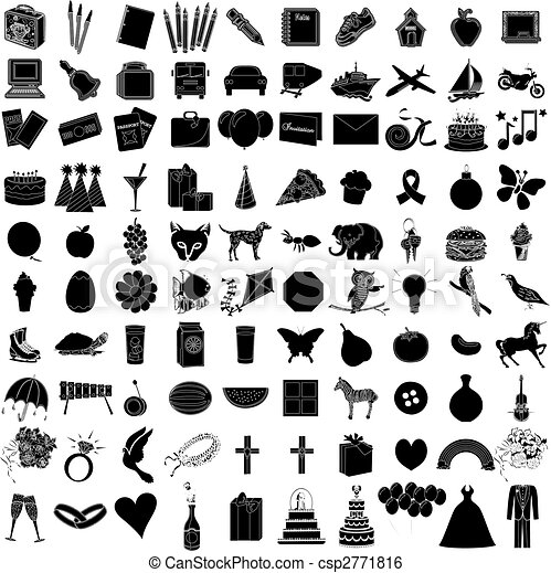 100 icon set 1 - csp2771816