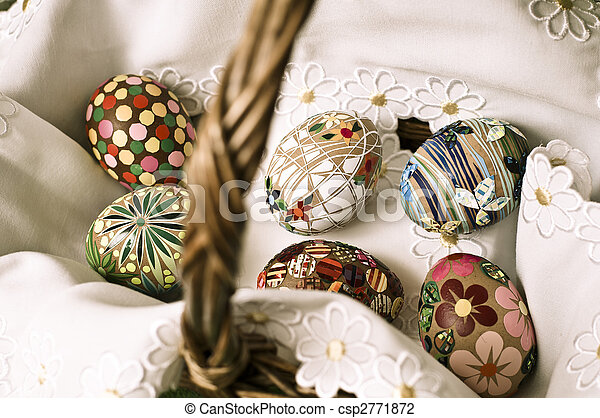 Easter basket   - csp2771872
