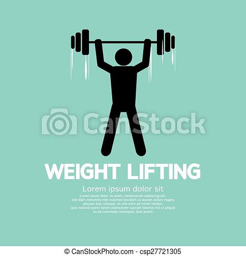 Weight Lifter Athlete. - csp27721305