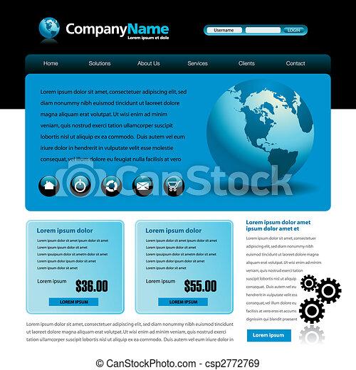 Vector web site design - csp2772769