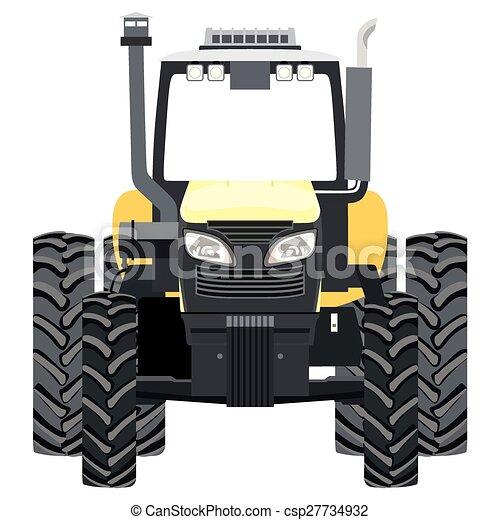 vectors of tractor yellow tractor a front view on white john deere clip art john deere clip art