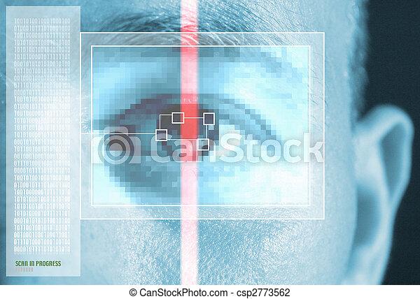 iris scan security - csp2773562