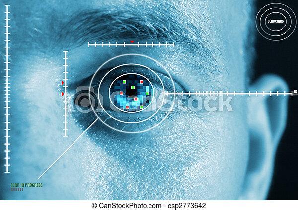 iride, sicurezza, scansione - csp2773642