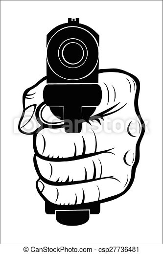 Vector of Hand pointing with the gun at you - Vector ...