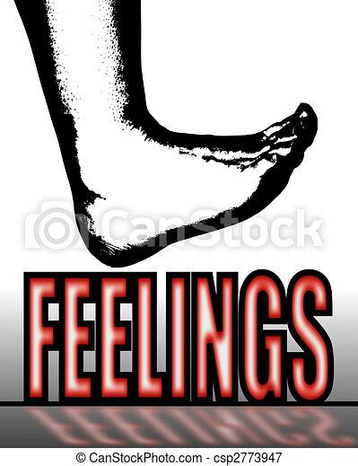 Treading on Feelings - csp2773947