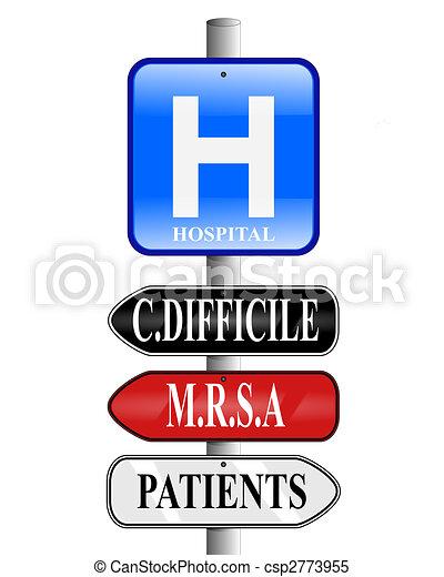 Hospital Superbug Signs - csp2773955