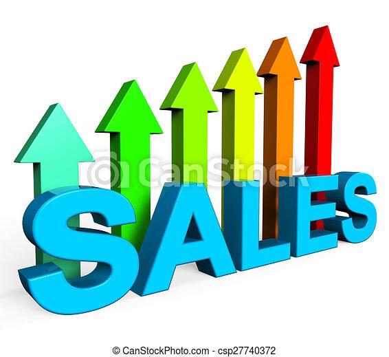 Stock Illustrations of Sales Increasing Indicates Progress Report ...
