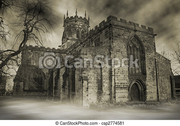 English church spooky - csp2774581