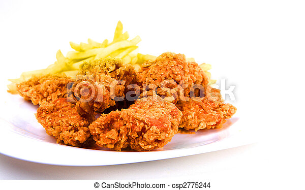 chicken and fries - csp2775244