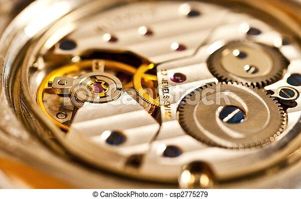 mechanism of a watch, detail - csp2775279
