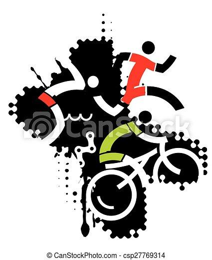 Extreme sport triathlon - csp27769314