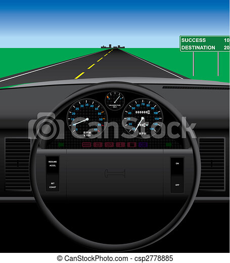 Automobile Dashboard - csp2778885