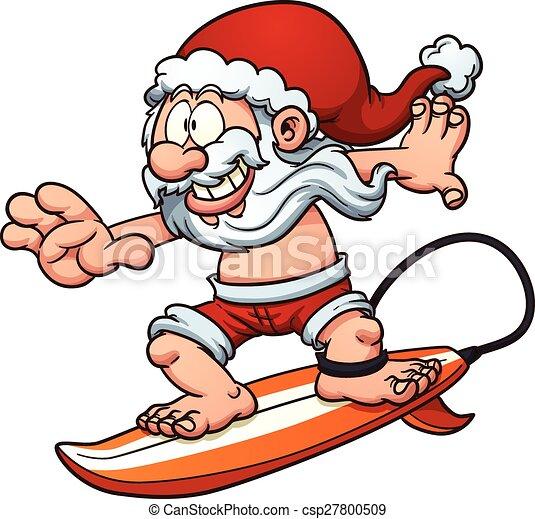Surfing santa Clip Art Vector and Illustration. 130 Surfing santa ...