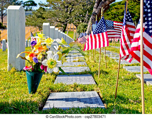 Flags and Grave Markers
