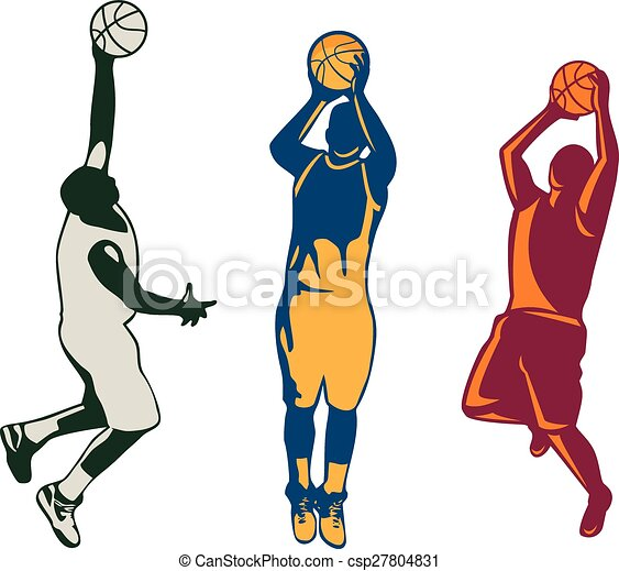 how to draw a basketball player shooting