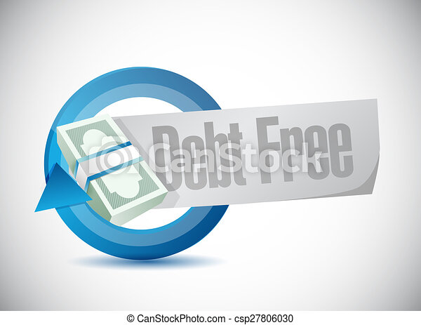 Free Money Drawings Debt Free Money Cycle Bar Sign