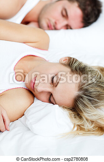 Beautiful woman sleeping with her boyfriend - csp2780808