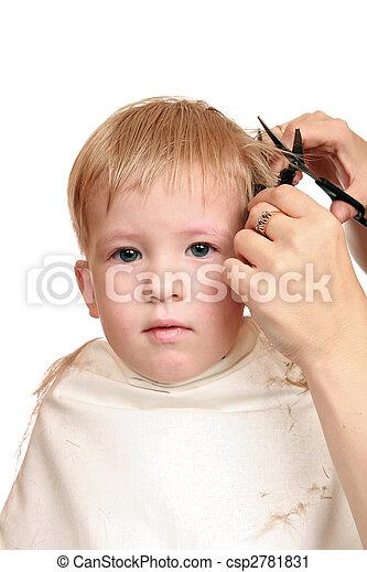 stock fotografie von haarschnitt junge womens hands shearers scissors 2 csp2781831. Black Bedroom Furniture Sets. Home Design Ideas