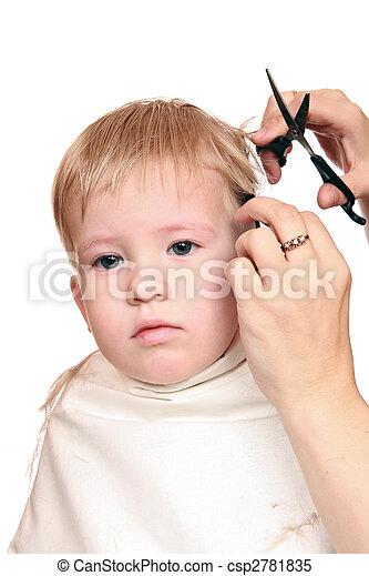 corte cabelo, Menino - csp2781835
