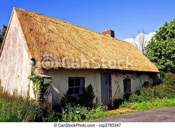 rural cottage in west of ireland farm - csp2783347