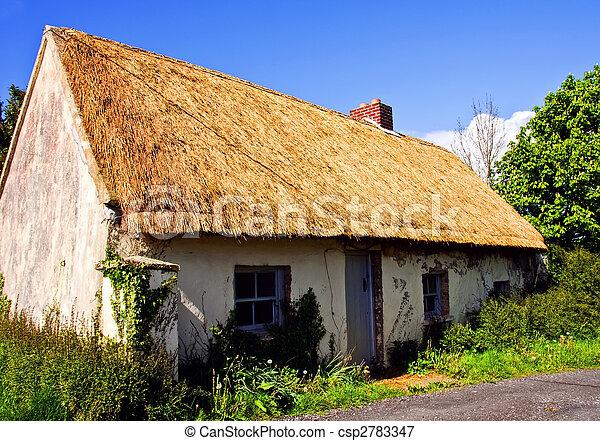 rural cottage in west of ireland farm - csp2783347