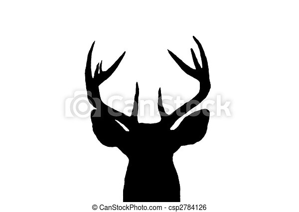 Whitetail Deer Buck Silhouette - csp2784126