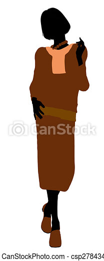 Conservative Female Illustration Silhouette - csp2784343