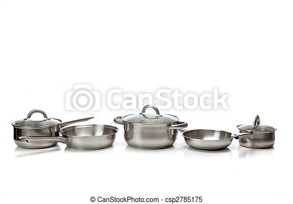 Stainless steel pots and pans - csp2785175