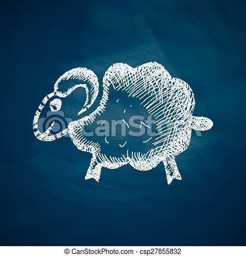 sheep icon - csp27855832