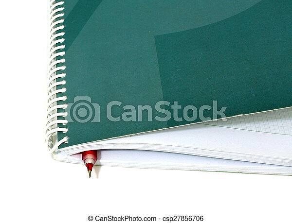 Business note pad with pen