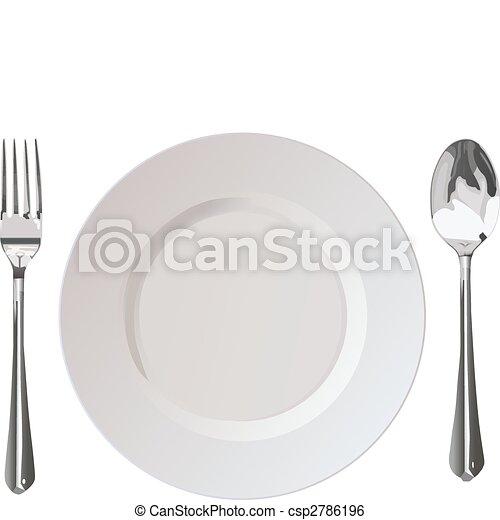 Flatwares fork plate spoon - csp2786196