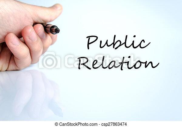 Public relation concept