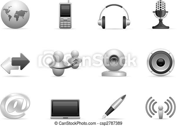 communication icons set - csp2787389