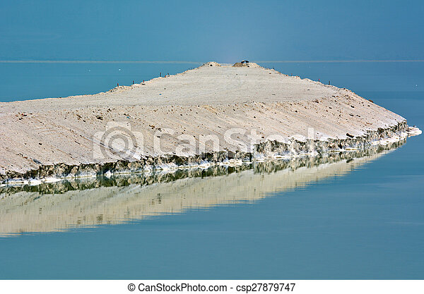 Mineral salt formation at the Dead Sea, Israel.