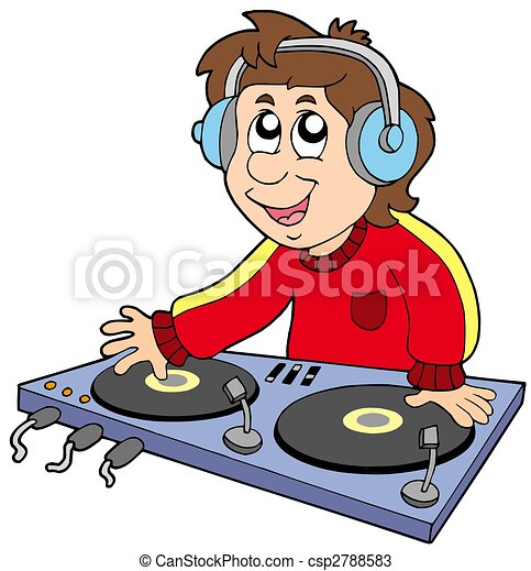 Cartoon DJ boy - csp2788583