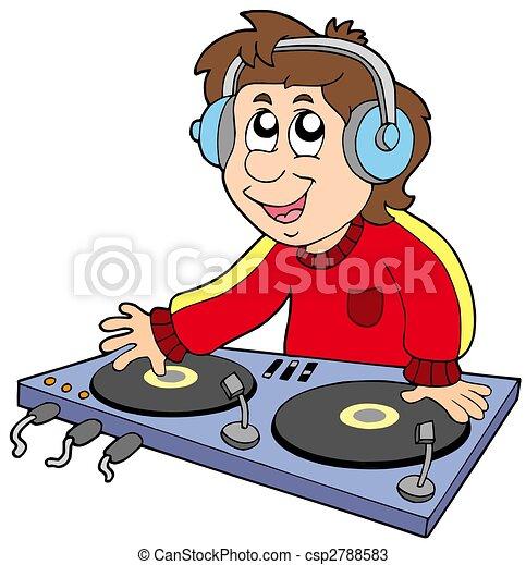 Cartoon DJ boy - csp2788583
