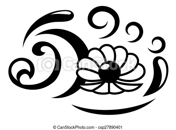 Vector Clipart of Abstract oyster with pearl illustration ...