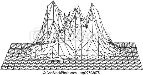 Geometric Mountain Drawing