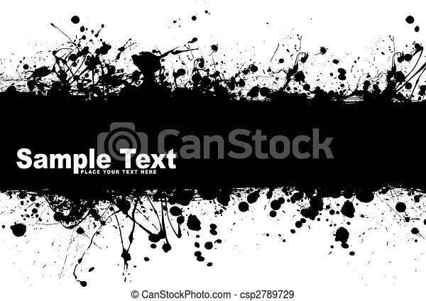 grunge banner ink - csp2789729