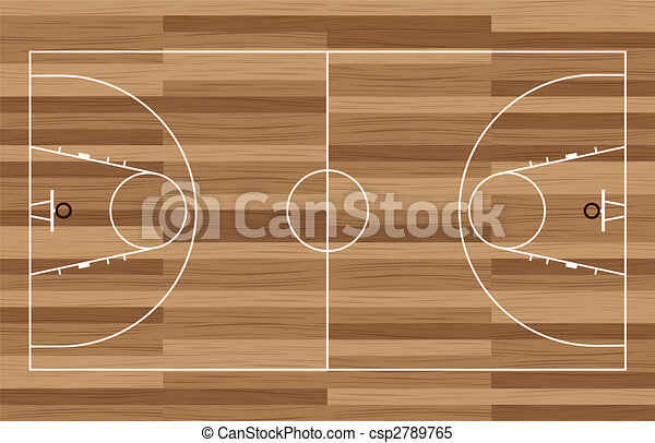 wood basketball court - csp2789765