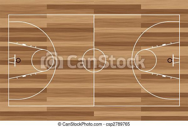 wood basketball court - csp2789765