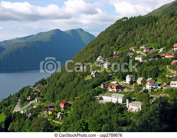 Village in mountains - csp2789876